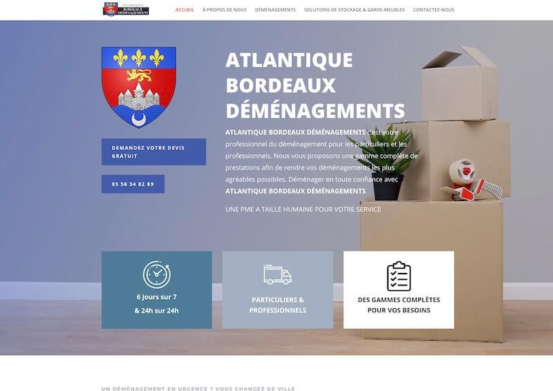 ATLANTIQUE BORDEAUX DÉMÉNAEMENTS - création de site internet