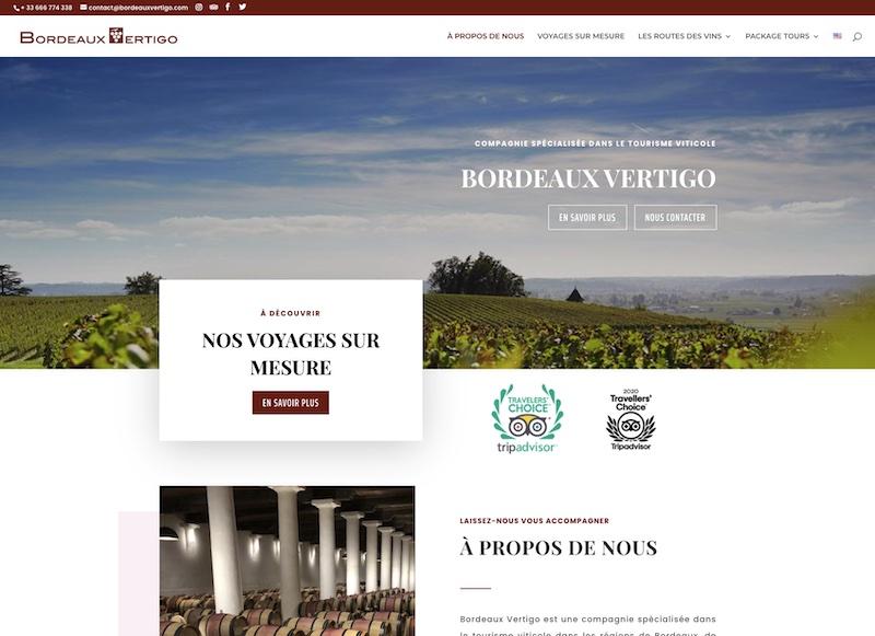 BORDEAUX VERTIGO - création du site internet