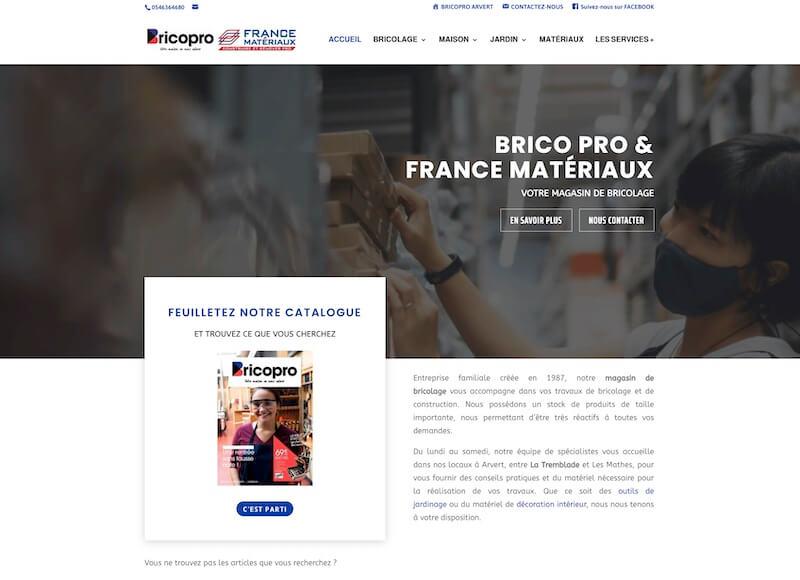 BRICOPRO - création du site internet