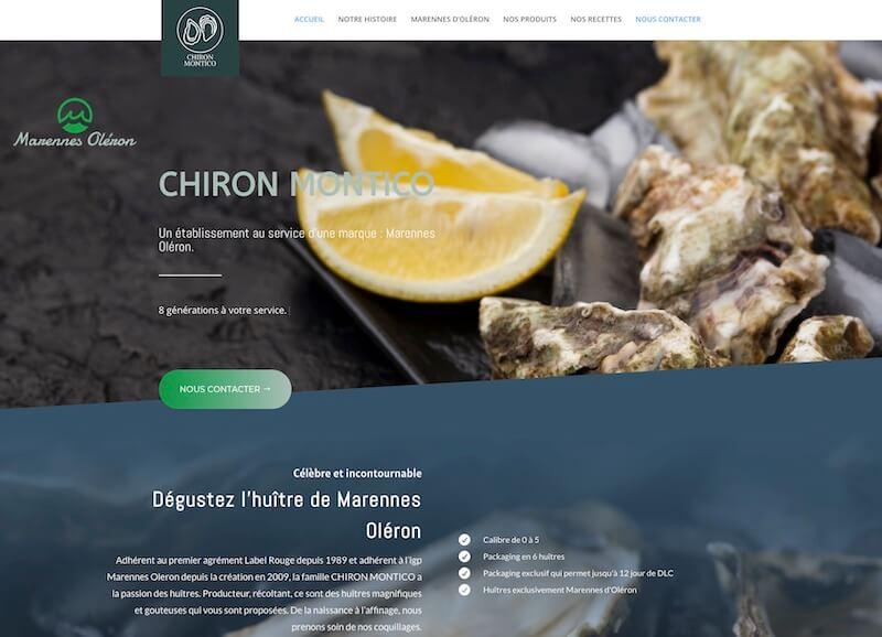 CHIRON MONTICO - création du site internet