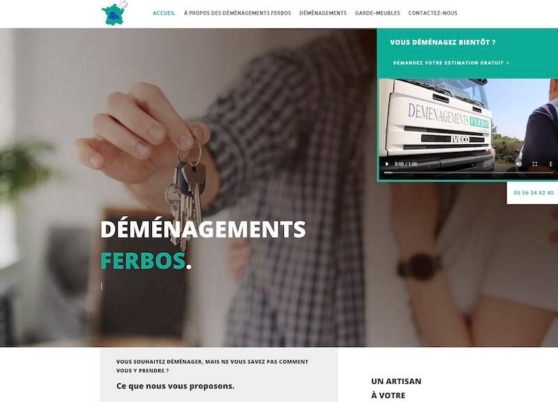 DEMENAGEMENTS FERBOS - création de site internet