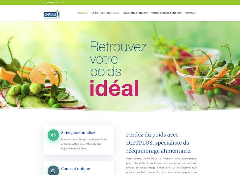 DIETPLUS LA ROCHELLE - Site Internet
