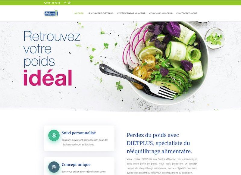 DIETPLUS LES SABLES D'OLONNE - Site Internet