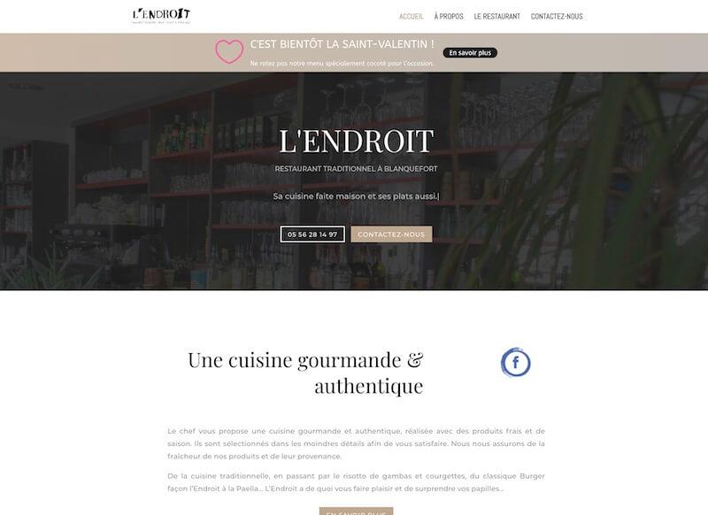L'ENDROIT - création de site internet