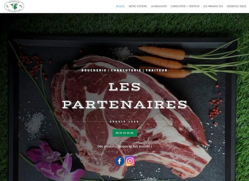 LES PARTENAIRES - création d'un site internet