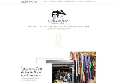 LOU & ROMY – Conception d'un site web