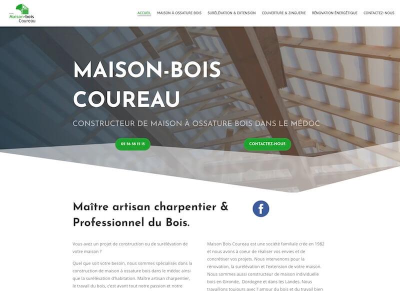 MAISON-BOIS COUREAU - création de site internet
