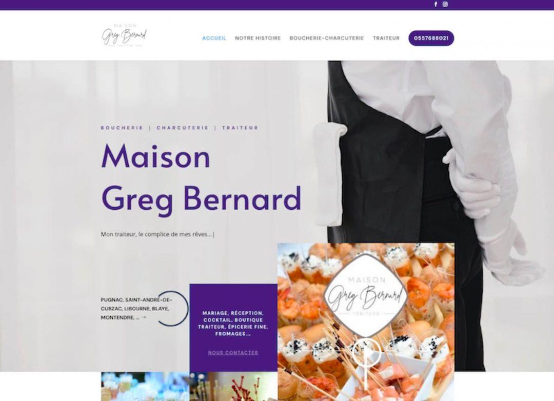 MAISON GREG BERNARD - création de site internet