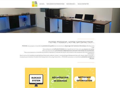PCSCOOL - création d'un site internet