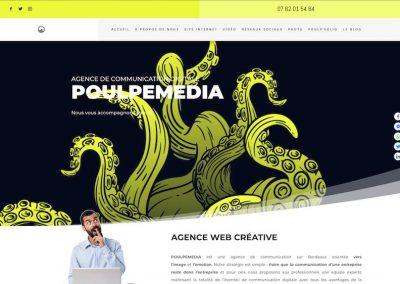 POULPEMEDIA, création du site internet