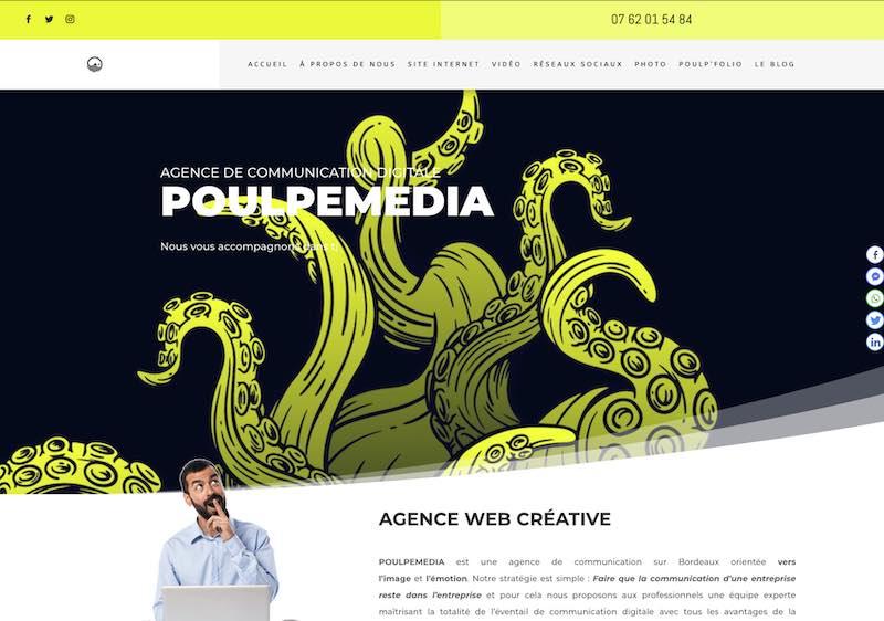 POULPEMEDIA - site internet