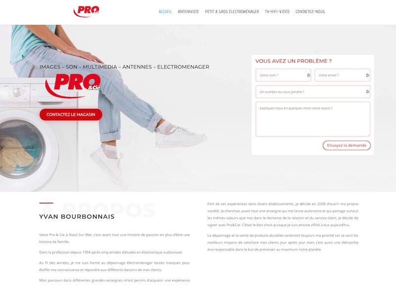 PRO ET CIE - création d'un site internet