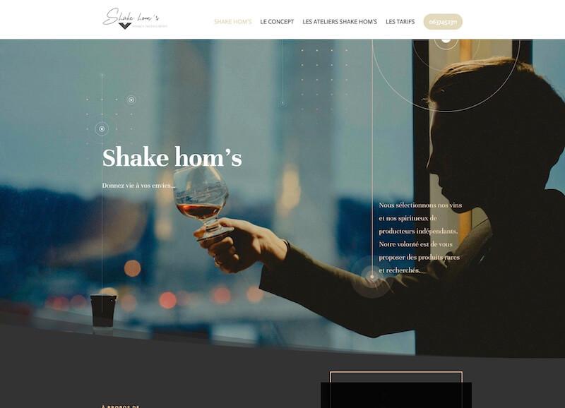 SHAKE HOM'S - création d'un site internet