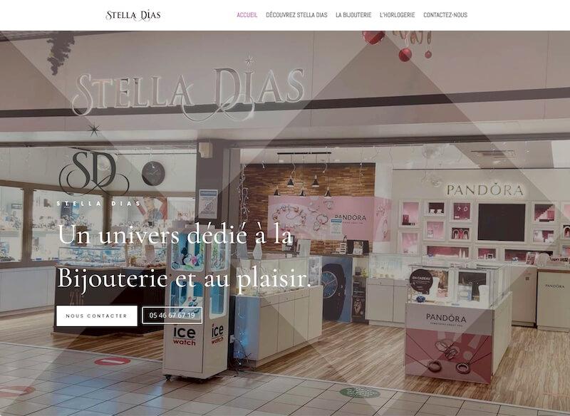 STELLA DIAS - création du site internet