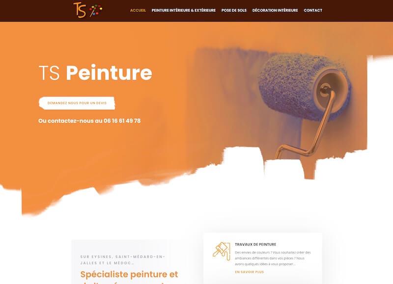TS PEINTURE - création d'un site internet