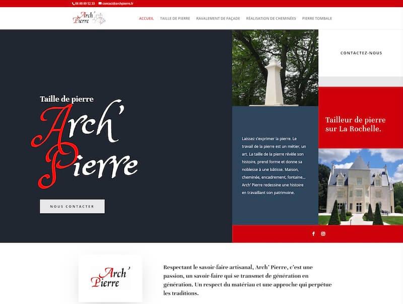 ARCH PIERRE - création de site internet