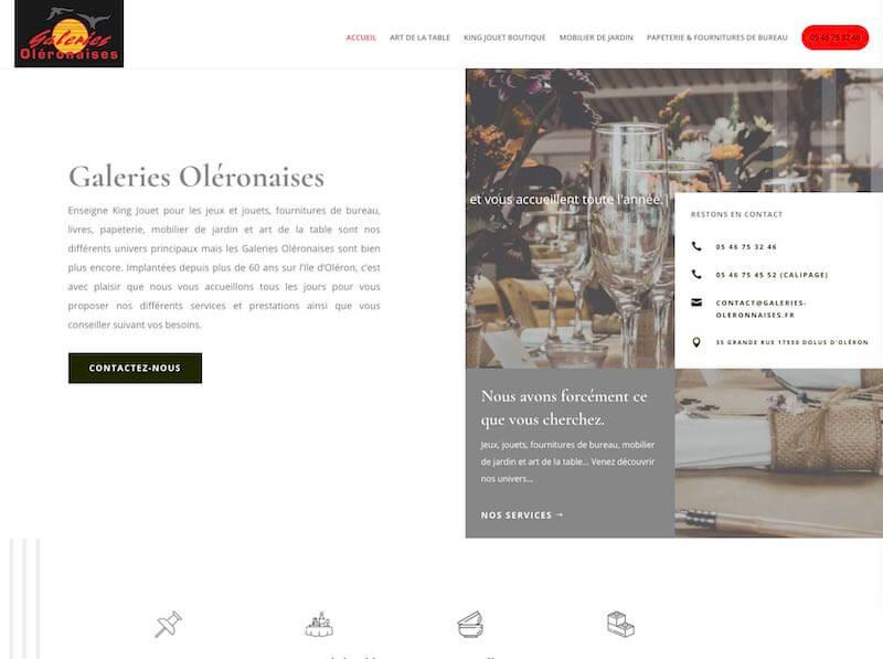 GALERIES OLÉRONAISES - création de site internet