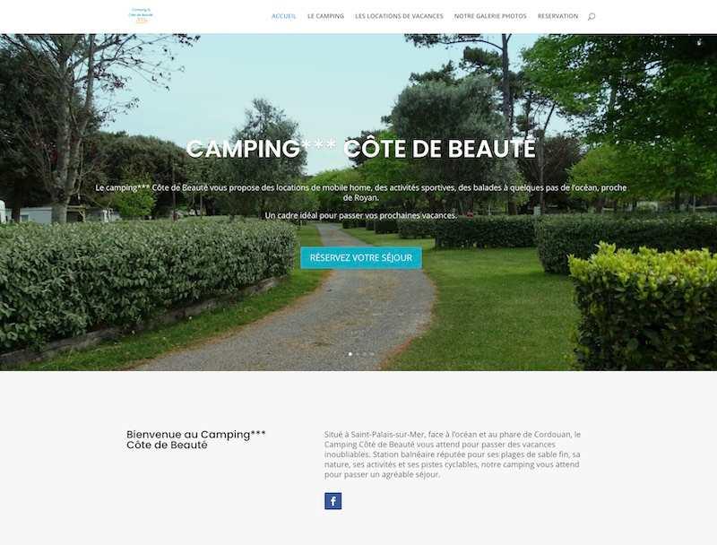 camping cote de beauté - création de site internet