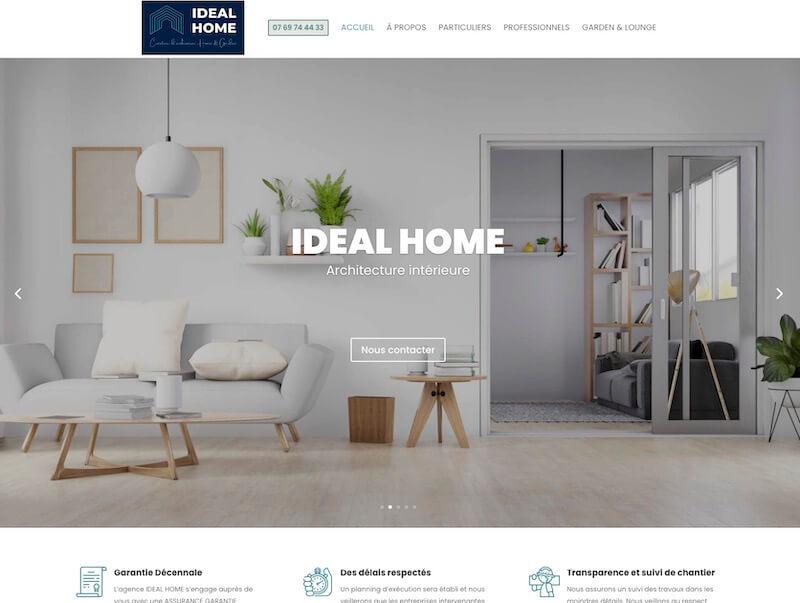 IDEAL HOME - création d'un site internet