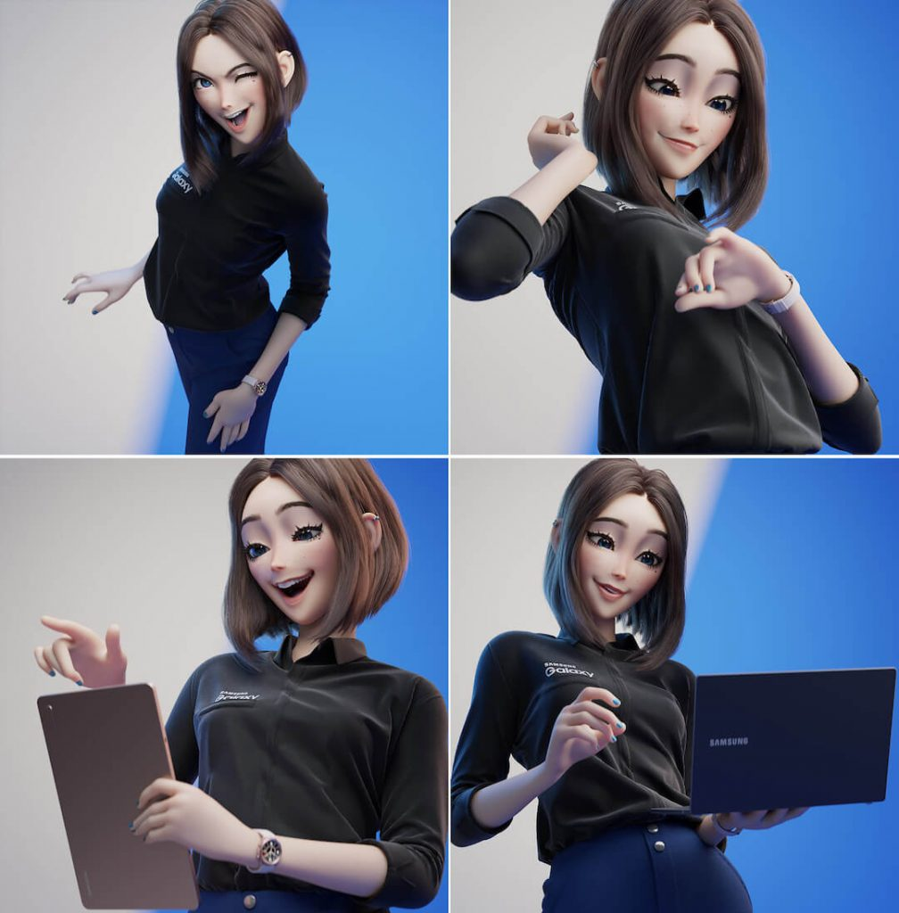 sam, l'avatar assistant personne lde samsung