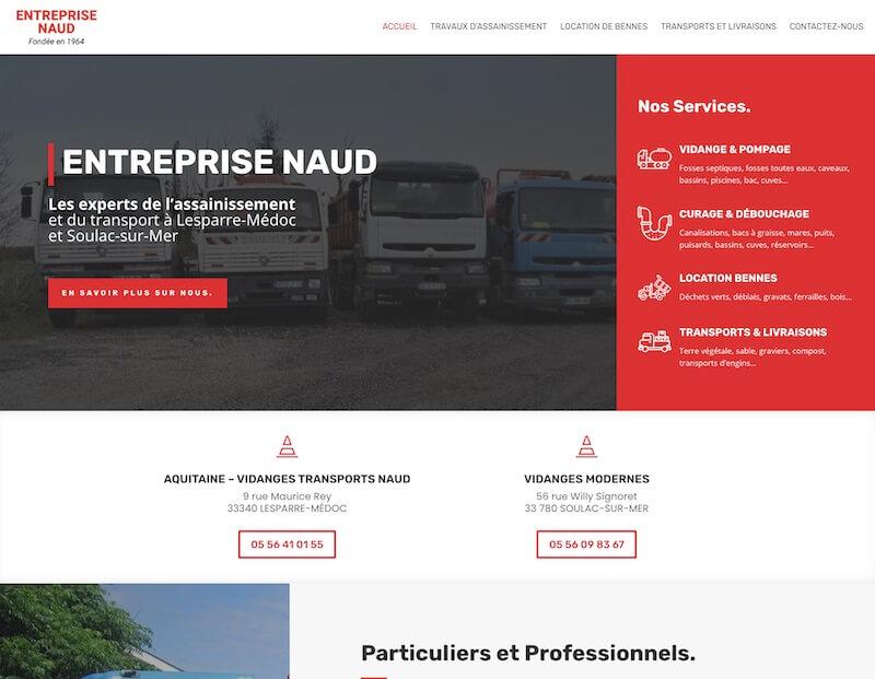 entreprise naud (création de site internet)