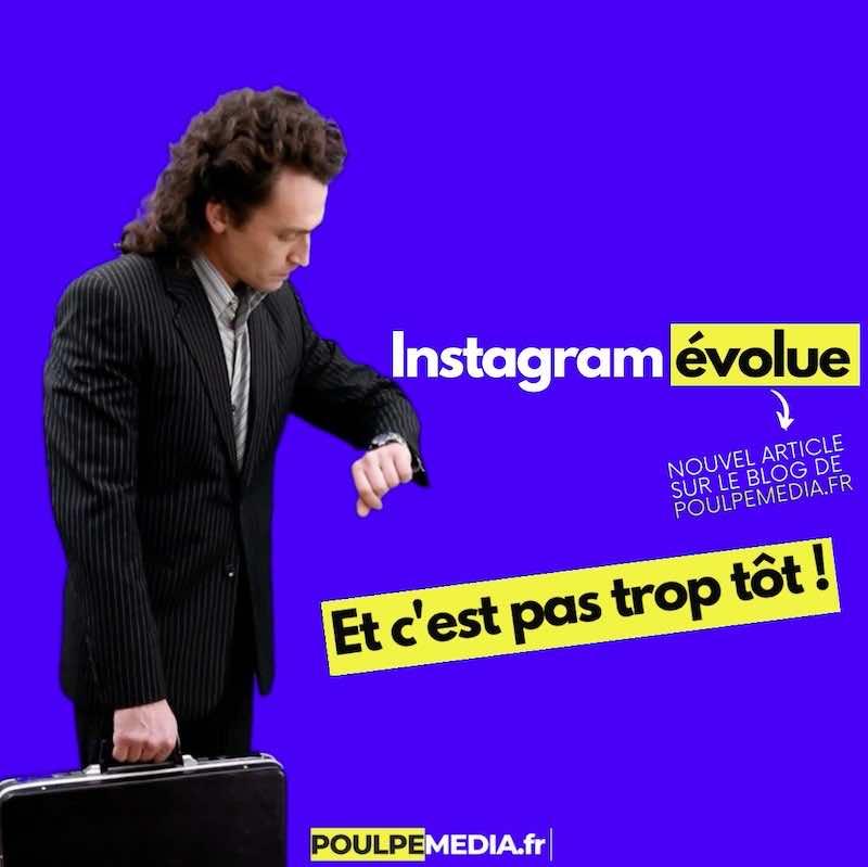 Enfin Instagram évolue